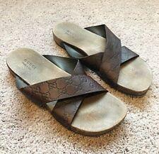 Authentic Gucci Brown Leather Sandals/Slide UK12 EU46 US12.5