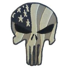punisher skull USA waving flag ACU american embroidered fastener patch