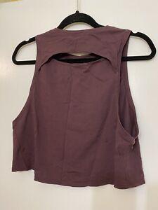 Lululemon Slit Back Crop Tank Purple Black Cherry size 6 Top