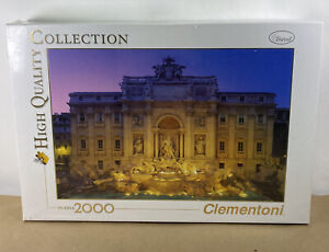 Clementoni Trevi Fountain Rome High Quality Collection Puzzle 2000 New Sealed