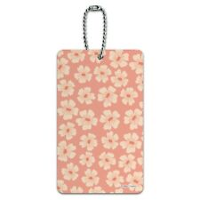 Id Tag Suitcase Carry Flower,Blossoming Spring Season Animal Cartoon