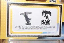 "ram mount ram-b-107 humminbird 100-700 series matrix lowrance elite 5 1"" ball"