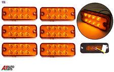 X6 12v 8 LED Lateral Marcador Naranja Ámbar LUCES PARA EL CARRO FIAT PEUGEOT VW