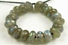 High Iridescent Labradorite Small Faceted Rondelles - 6 x 3 mm - 20 beads -7414A