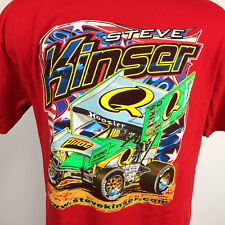 Minty Vintage Steve Kinser World of Outlaws Sprint Car Racing Dirt T Shirt XL