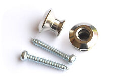 Dunlop Guitar Strap Buttons for Straplock Strap Lock Endpins End Pins • Nickel