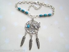 *DREAMCATCHER FEATHER BUTTERFLY CHARM BRACELET* SP Chain Turquoise Red or Purple