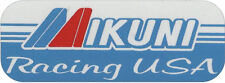 "#676 (1) 4"" Mikuni Vintage sponsor Laminated Reproduction Decal Sticker suzuki"