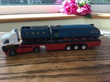 Rare Corgi Eddie Stobart Scania 1.64 Truck Carrying Mallard 4468 Train & Tender