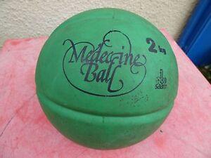 Medicine Basketball Vintage Saam Green 2 Kilos Decor Loft
