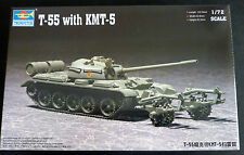 1/72 Russian T-55 Medium Tank with KMT-5 Mine Roller - Trumpeter 07283