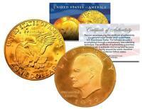 1977 EISENHOWER IKE DOLLAR *Moon Landing of Apollo 11* 24K GOLD PLATED COIN