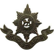 Original Worcestershire Regiment OFFICERS Bronze Worcester Collar Badge - VZ61