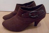 Sommer Stiefelette Stiefel Pump Schuhe Damen braun Gr. 39 Absatz 7 cm