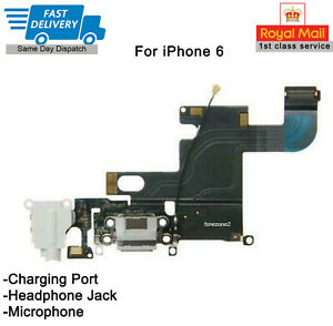 IPhone 6 Charging Port Charger Flex Headphone Jack microphone High Quality White