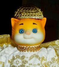 "GOEBEL-BETTY BALL-DOLLY DINGLE DOLLS-PORCELAIN Angel CAT- 8""H /STAND INC-AGE 10+"