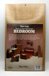 Dura-Craft Miniature Dollhouse Furniture Kit - Bedroom- New -Factory sealed