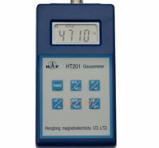 Digital Gauss Meter Surface Magnetic Field Tesla Tester AC/DC Fluxmeter HT201