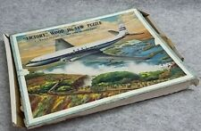 B.O.A.C COMET Jetliner Victoria Falls Victory Wood Jigsaw Picture Puzzle Vintage