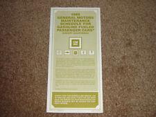 1980 Trans Am Factory GM Original Maintenance Schedule First Edition Mint