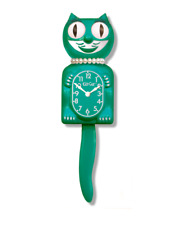 GREEN BEAUTY LADY KIT-CAT CLOCK KAT KLOCK NEW FOR 2017 LIMITED EDITION