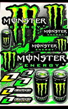 1 Sheet scooter motocross Stickers atv mx Energy Rockstar BMX Bike MGC decal