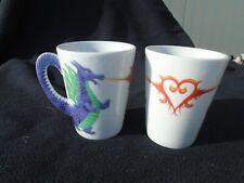 Two Purple Dragon Mugs