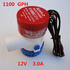 "Good 1100GPH 12V 2.5A Submersible Marine Boat Electric Bilge Pump 1-1/8"" Outlet"
