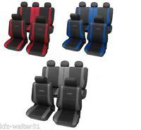 Für FORD Tourneo Connect Autositzbezüge / Schonbezug Exclusive grau rot blau