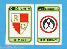 PANINI CALCIATORI 1983/84 -Figurina n.411- RIMINI+R.M.FIRENZE - SCUDETTO -Rec