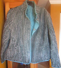 JONES NEW YORK 2X reversible women's jacket NWT $260 grey green multi color
