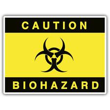 Precaución Pegatina de riesgo biológico 100mm X 70mm Ratlook, xombie, Mr Oilcan