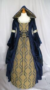 Girls Medieval Dress Renaissance Hooded Gown Custom made from age 5 to 7 yrs