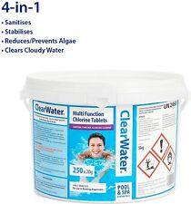 Clearwater Multifunction Chlorine Tablets, 4-in-1 Dispenser - 240 Tablets - 5kg