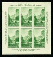 Scott#: 751 - El Capitan, Yosemite Farley Souvenir Sheet of 6 MNH OG