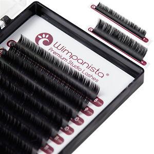 Seidenwimpern - C Curl - Einzelwimpern - Silk Lashes - Stärke 0.15 mm Mix 8-14mm