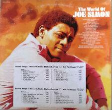 JOE SIMON - THE WORLD OF JOE SIMON - SOUND STAGE - (2) LP SET - TIMING STRIPS