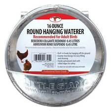 16 OZ CAPACITY GALVANIZED HANGING CHICKEN CANTEEN SUPPLEMENTAL WATERER POULTRY