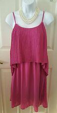 US Seller New Mossimo Pink/Fuchsia Casual Blouson Pleated Dress Medium