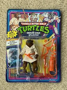 TMNT 1992 Teenage Mutant Ninja Turtles Movie Star Splinter Action Figure Toy MOC
