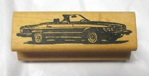 Vintage Convertible rubber stamp wood mounted retro stamps classics mail art