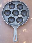 VINTAGE GRISWOLD NO. 32 CAST IRON AEBLESKIVER DANISH PANCAKE PAN #962