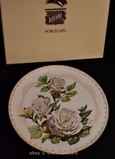 Boehm Roses of Excellence White Lightnin Limited Collector Plate * Box 1982 Vtg