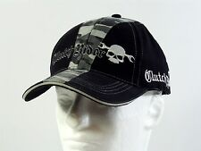 NEW Rolling Steel Thunder CLUTCH RIDER Adult Biker Hat Cap Black Gray Camo SKULL