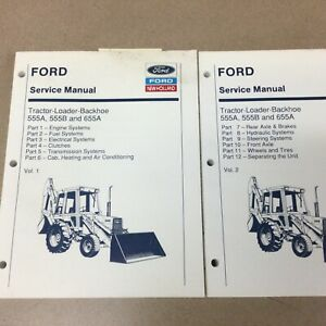 FORD New Holland 555A 555B 655 TRACTOR LOADER BACKHOE SERVICE REPAIR SHOP MANUAL