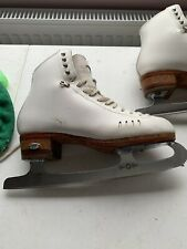 Riedell 1500 HLS White Figure Skates W/ John Wilson Gold Seal Blades