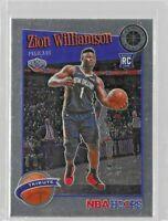 2019-20 NBA Hoops Premium Stock Zion Williamson RC TRIBUTE #296 Pelicans Mint