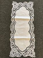 Embroidered Cotton Lace Battenburg Placemat Table Runner Wedding Party Banquet