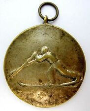 VINTAGE BULGARIAN SPORT PARTICIPANT MEDAL SKIING CHAMPIONSHIP 1952 SKI RUNNING
