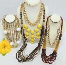FASHION NECKLACE LOT - J. CREW, MONET, ERICA LYONS, COLDWATER CREEK, UNBRANDED